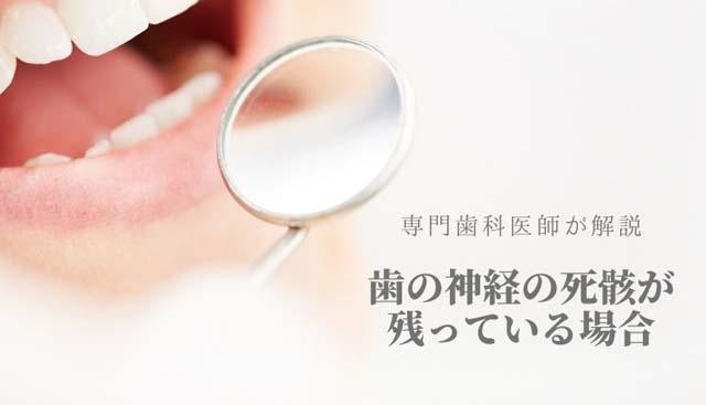 死んだ歯の神経の残骸|香川県高松市の歯の神経治療専門 吉本歯科医院